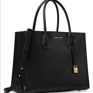 MICHAEL KORS | Black Leather Shoulder Bag